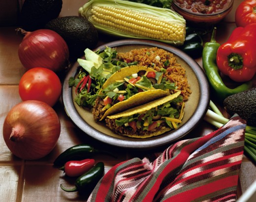 Plate of Mexican tacos : Stock Photo