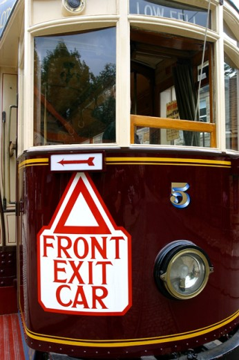 Stock Photo: 1467-2205 Close-up of a tram, England