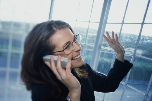 Stock Photo: 1467R-940 Portrait of a businesswoman talking on a mobile phone