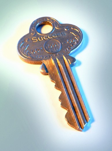 Stock Photo: 1469R-225 Close-up of a key
