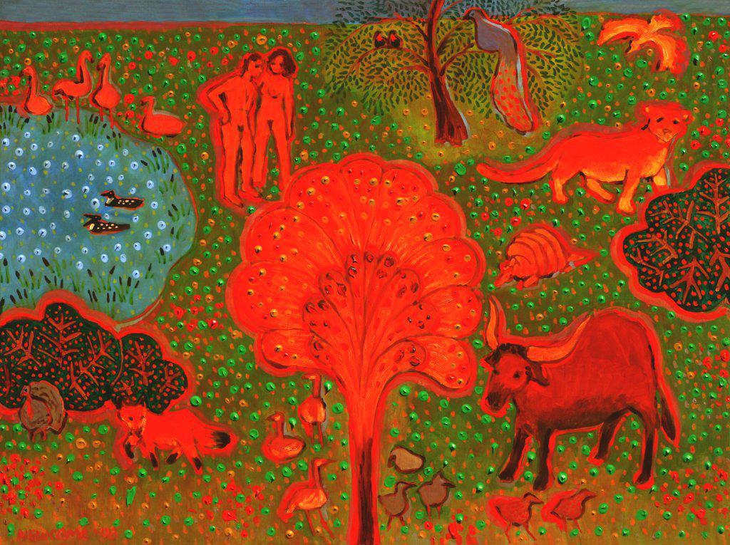 Stock Photo: 1474-148 Paradise  John Newcomb, Acrylic, 1998