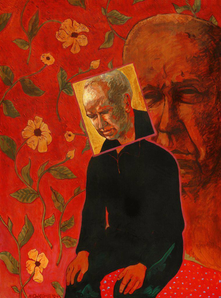 Self Portrait, John Newcomb (21st C. American), Acrylic, 2004 : Stock Photo