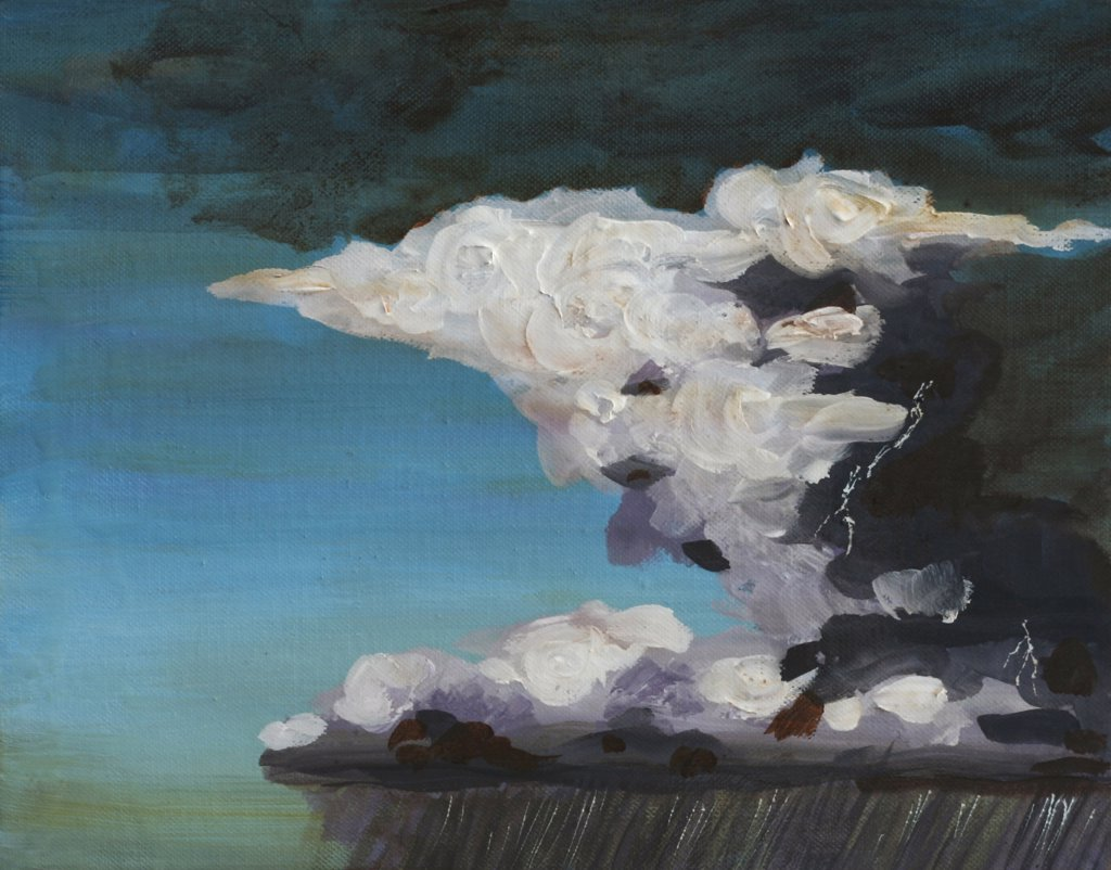 Sky Portrait, Thunderstorm, John Newcomb (21st C. American), Acrylic, 2007 : Stock Photo
