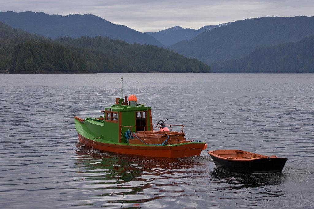 Stock Photo: 1482R-1625 Boats in the sea, Prince Rupert, British Columbia, Canada