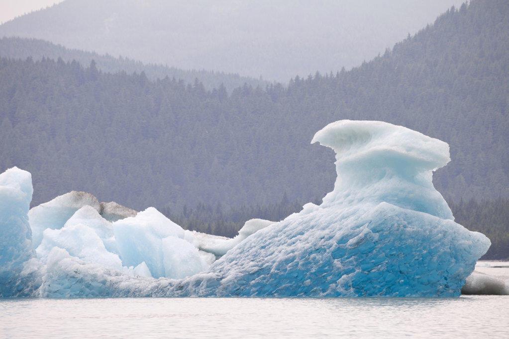 Iceberg in the lake, Mendenhall Lake, Mendenhall Valley, Mendenhall Glacier, Juneau, Alaska, USA : Stock Photo