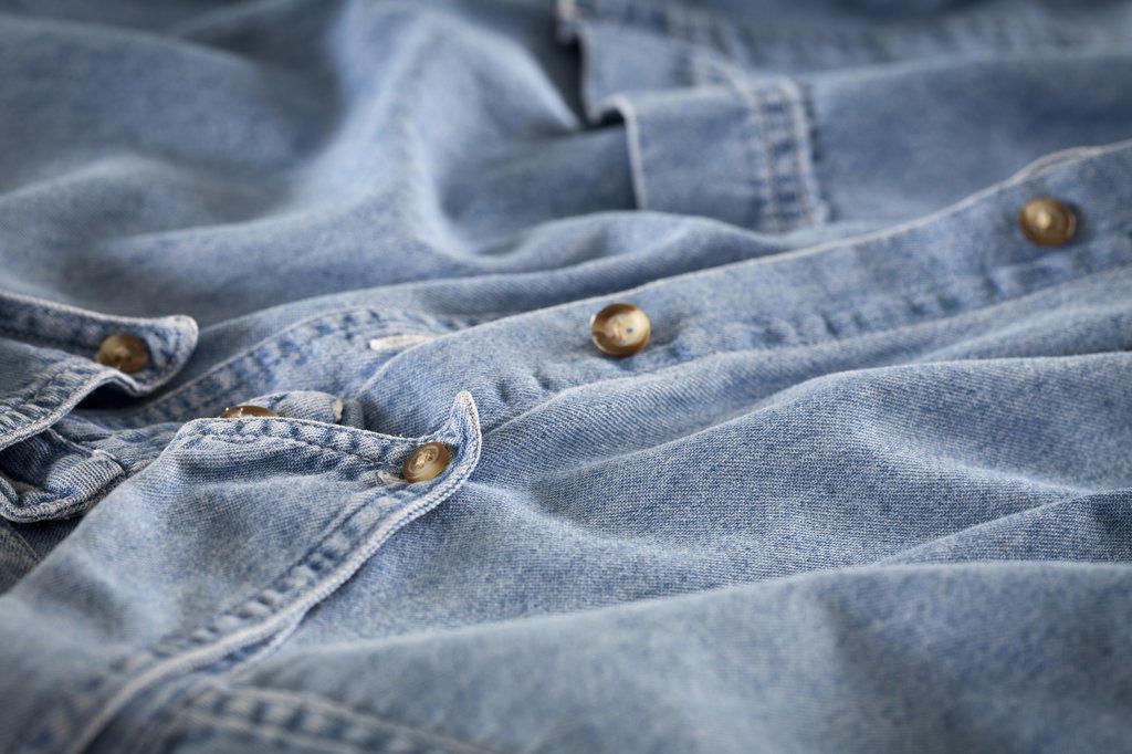 Old blue shirt : Stock Photo