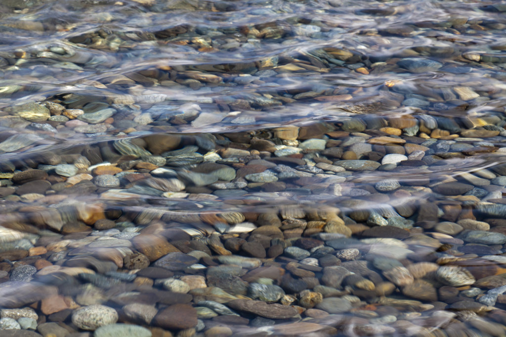Pebbles under water, high angle view : Stock Photo