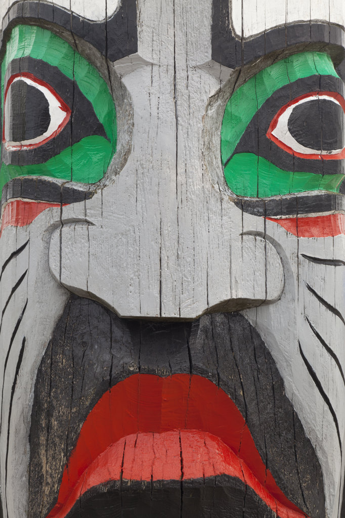 Detail of totem pole : Stock Photo