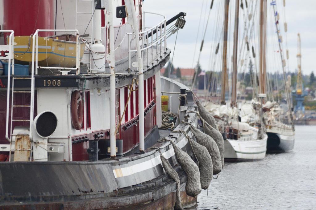 Tug Boat in port : Stock Photo