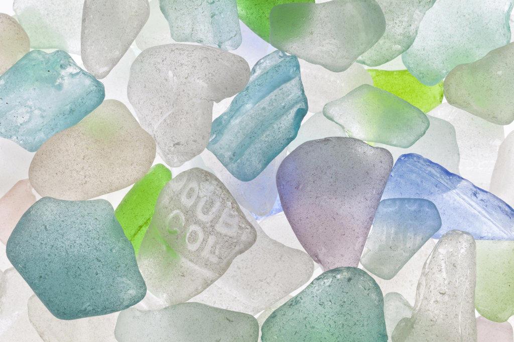 Stock Photo: 1482R-3057 Studio shot of Beach Glass