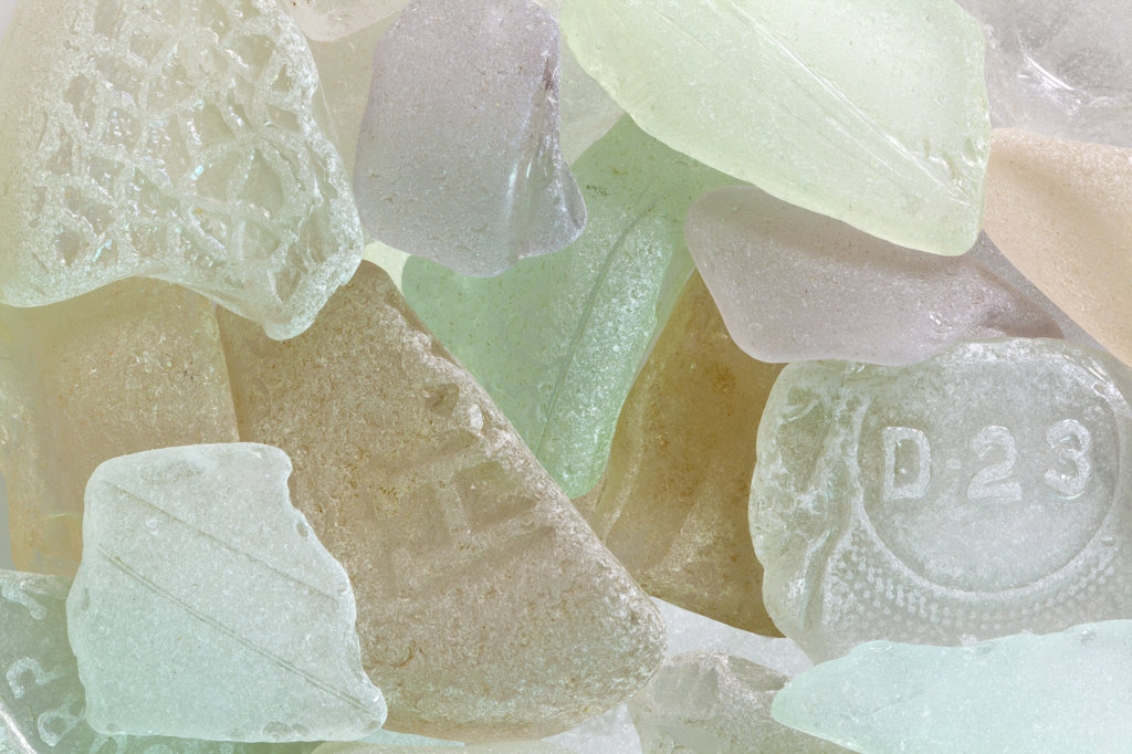Stock Photo: 1482R-3060 Studio shot of Beach Glass