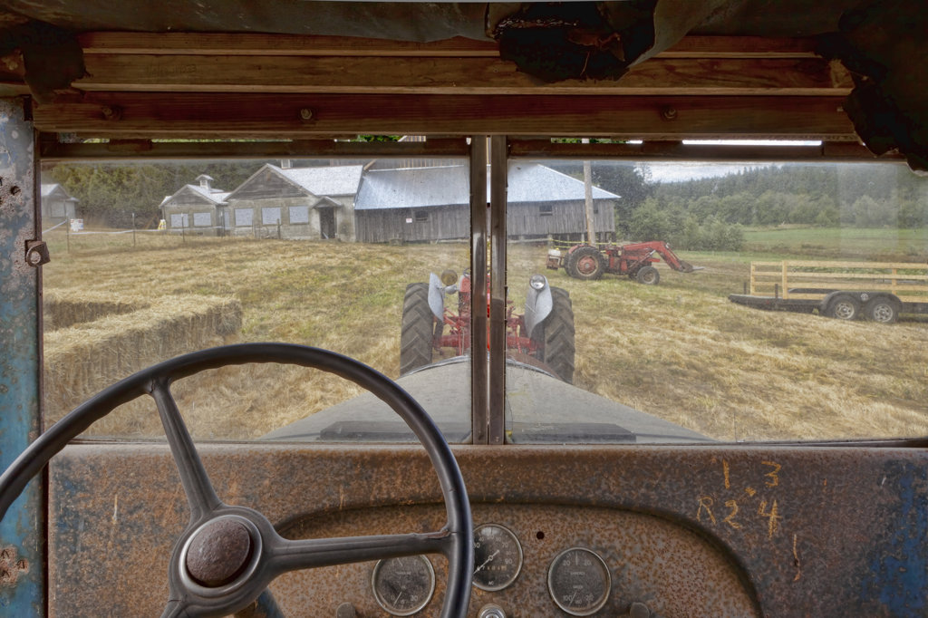 Stock Photo: 1482R-3068 USA, Washington, Silverdale, Historic Petersen Farm, Antique Truck
