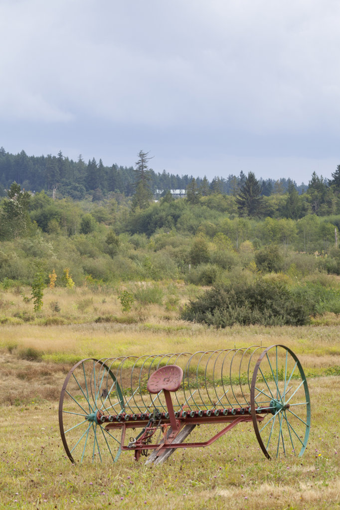 Stock Photo: 1482R-3077 USA, Washington State, Silverdale, Historic Petersen Farm