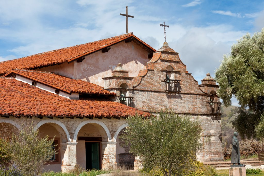 Stock Photo: 1482R-3271 USA, California, Mission San Antonio de Padua