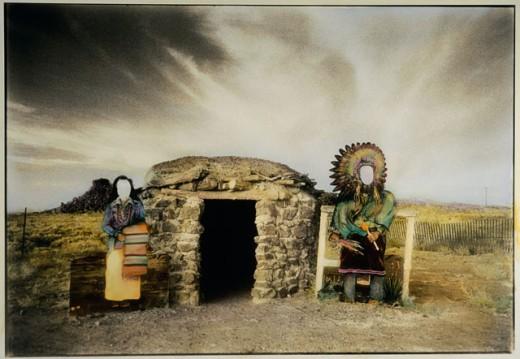 Ancient dwelling, Albuquerque, New Mexico, USA : Stock Photo