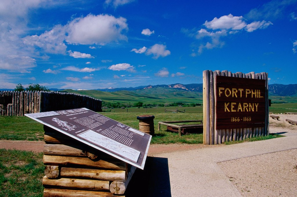 Stock Photo: 1486-10157 Fort Phil Kearny State Historic Site Wyoming USA