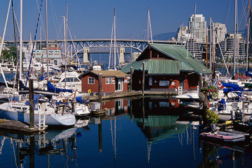 False Creek Marina Vancouver British Columbia, Canada : Stock Photo