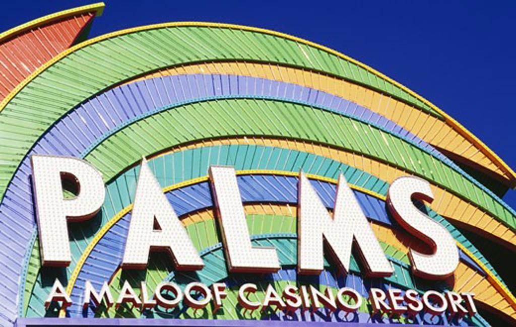 Low angle view of a hotel, Palms Casino Resort, Las Vegas, Nevada, USA : Stock Photo