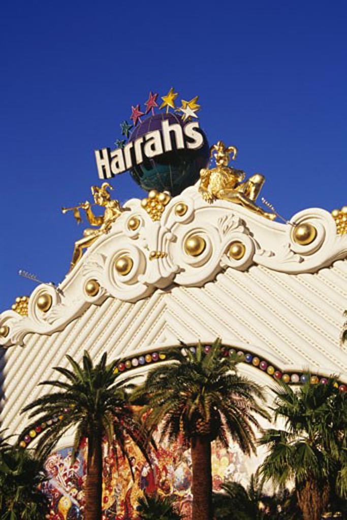 Stock Photo: 1486-1027 Facade of a hotel, Harrah's Las Vegas, Las Vegas, Nevada, USA