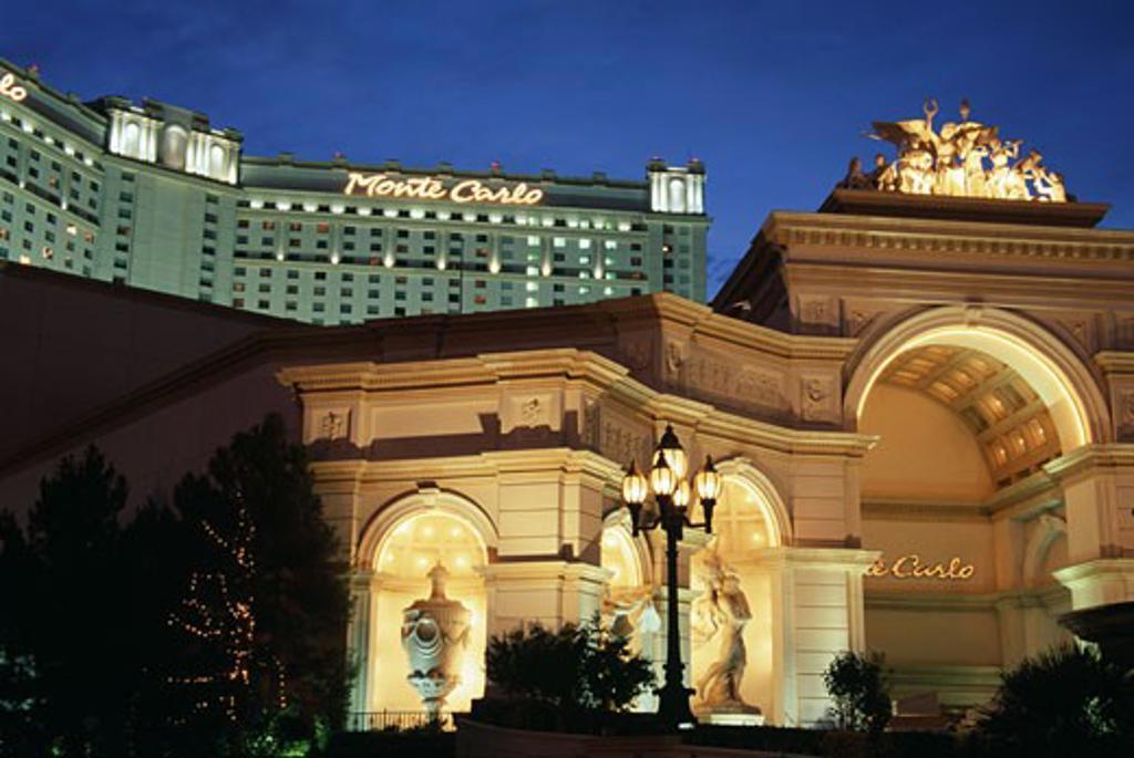 Stock Photo: 1486-1041 Monte Carlo Resort and Casino Las Vegas Nevada USA