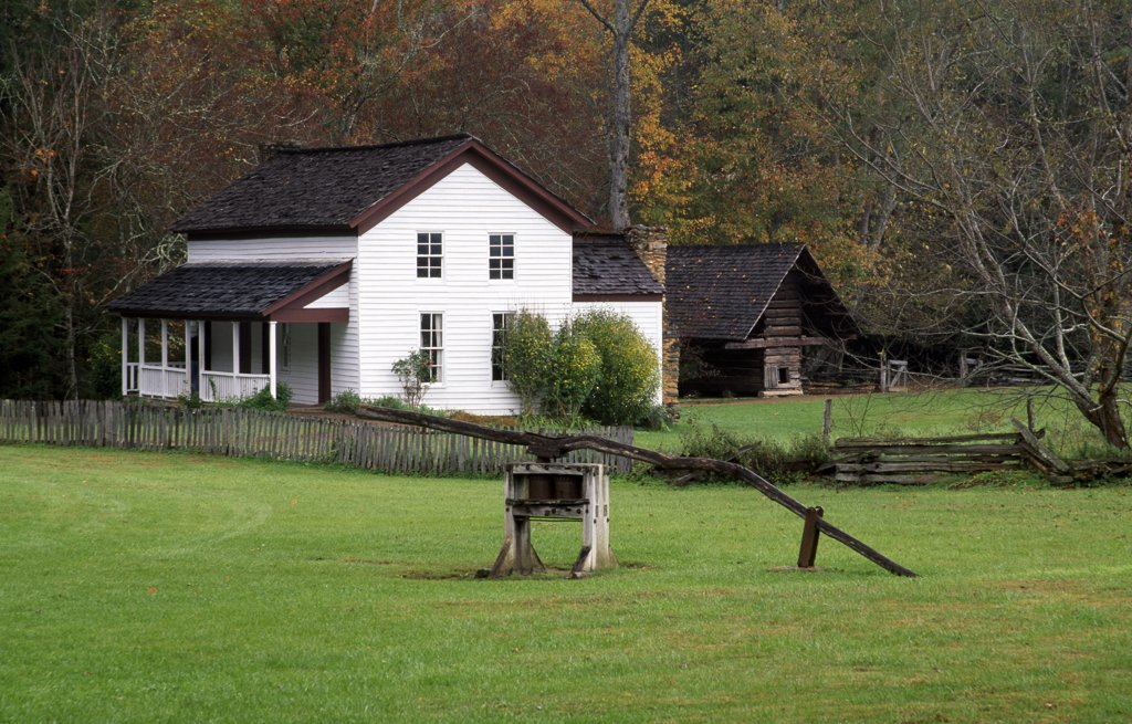 Gregg-Cable House Great Smoky Mountains National Park Tennessee, USA : Stock Photo