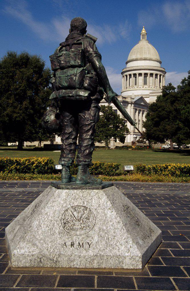 Vietnam War Memorial State Capitol Little Rock, Arkansas, USA : Stock Photo