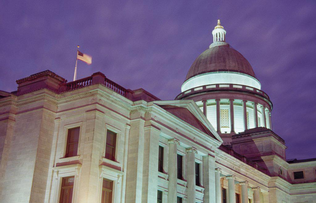 Stock Photo: 1486-10514 State Capitol Little Rock  Arkansas, USA