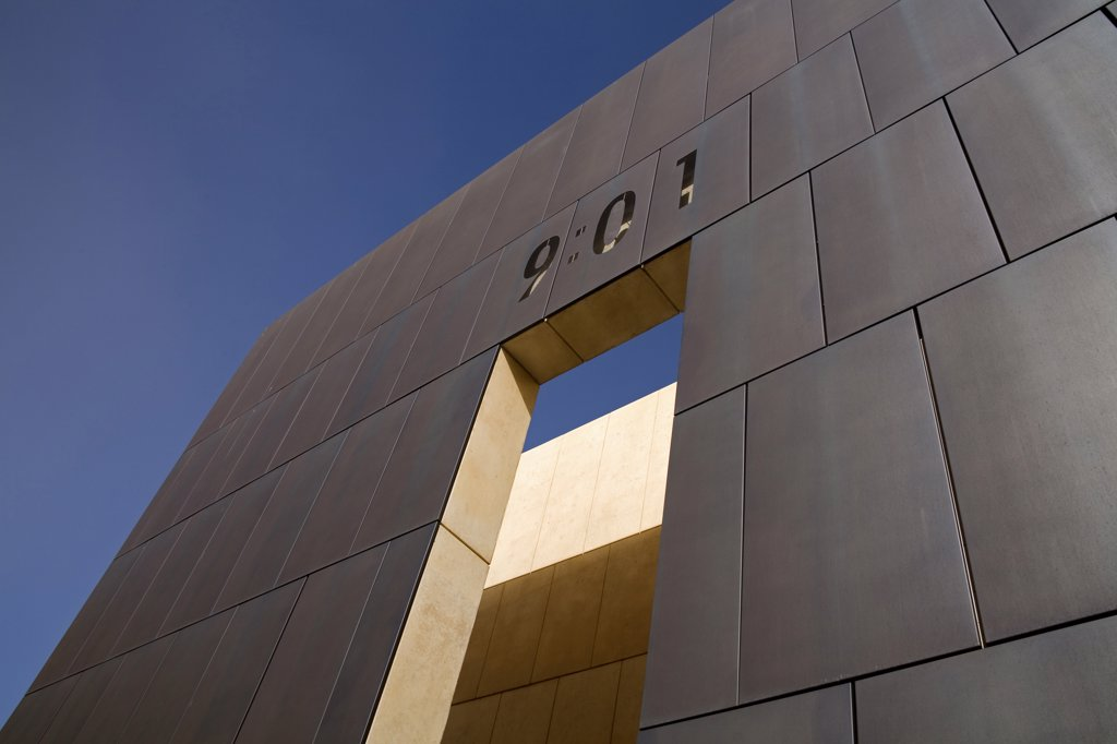 Low angle view of a memorial, Gate of Time, Oklahoma City National Memorial, Oklahoma City, Oklahoma, USA : Stock Photo