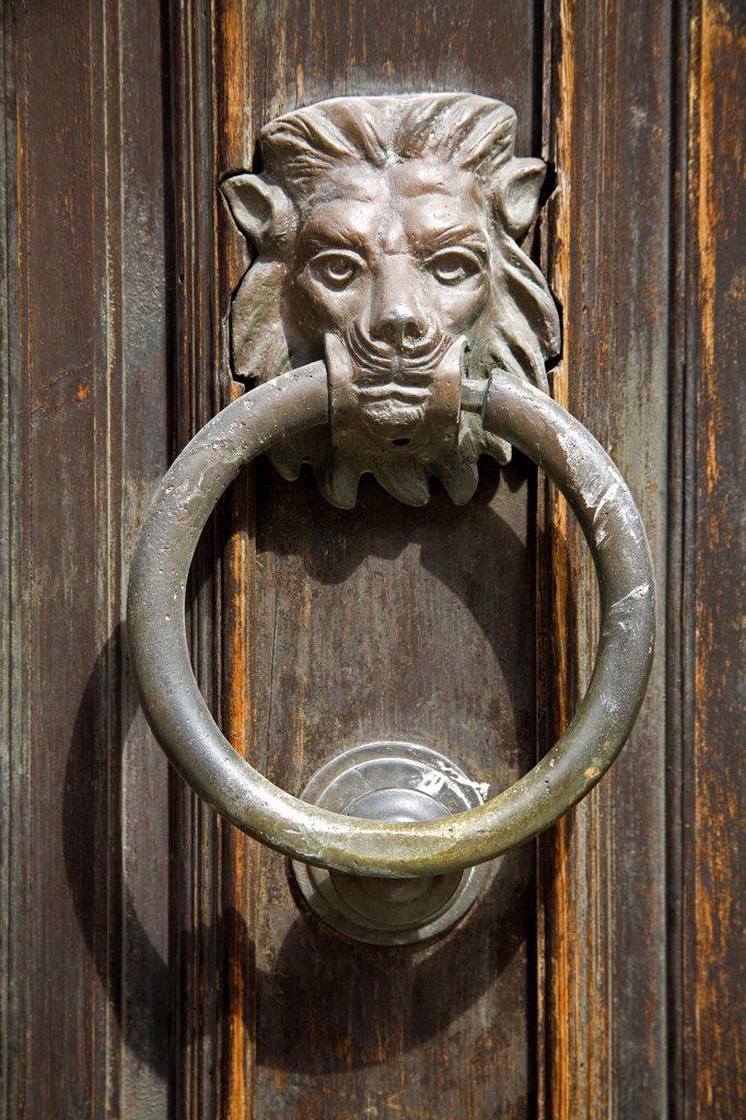 Stock Photo: 1486-10773 Close-up of a doorknocker