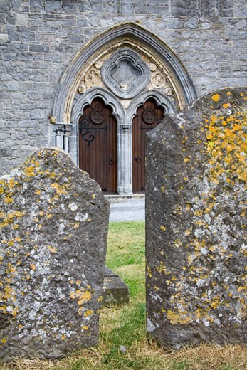 Stock Photo: 1486-10858 Closed door of a cathedral, St. Canice's Cathedral, Kilkenny, County Kilkenny, Leinster Province, Ireland