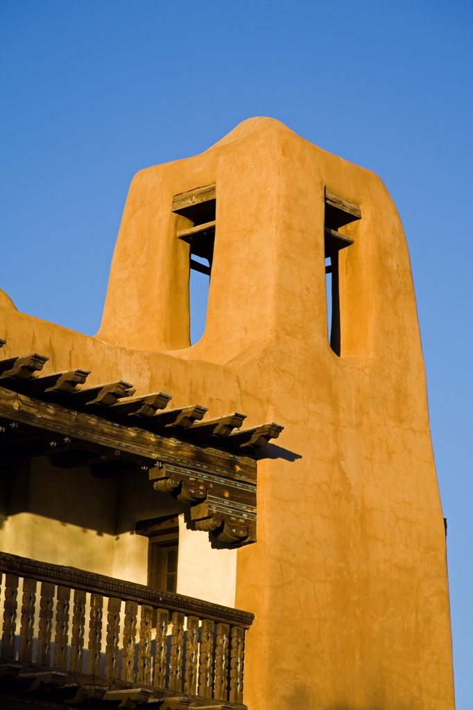 Stock Photo: 1486-11116B Low angle view of a museum, Museum of Fine Arts, Santa Fe, New Mexico, USA