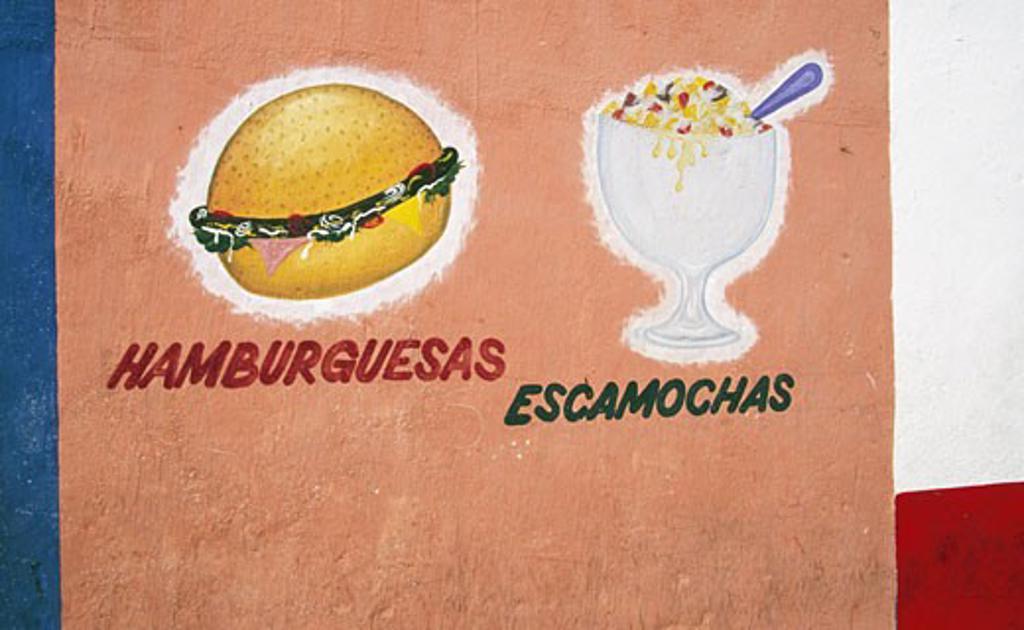 Close-up of advertisement on a wall, Mazatlan, Sinaloa, Mexico : Stock Photo