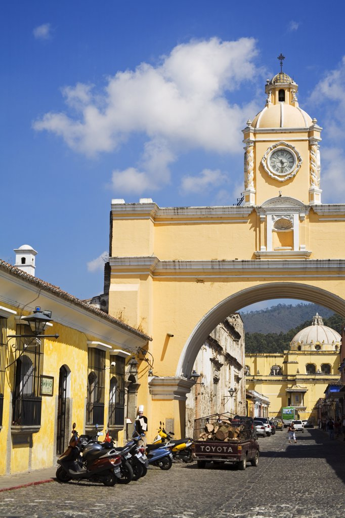 Stock Photo: 1486-11397B Low angle view of an archway, Santa Catalina Arch, Antigua, Guatemala