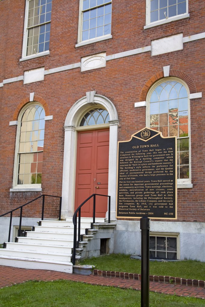 Stock Photo: 1486-12039 Old City Hall on Market Street, Wilmington City, Delaware State, USA
