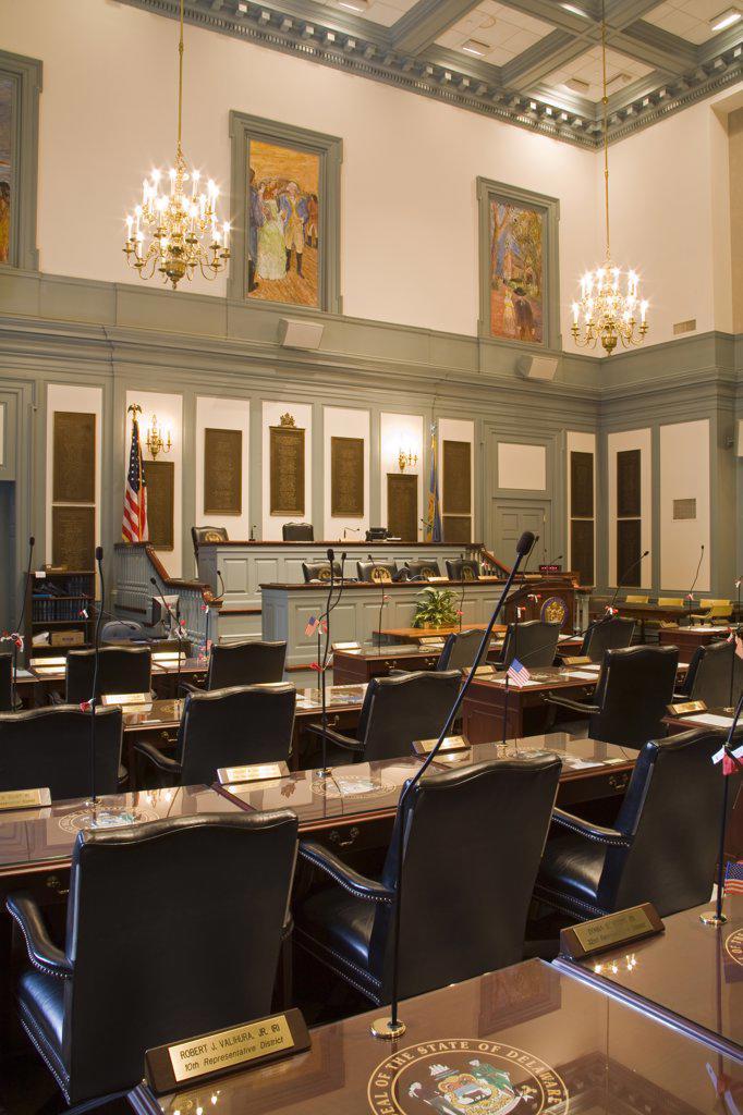 House of Representatives in Legislative Hall, State Capitol, Dover City, Delaware State, USA : Stock Photo