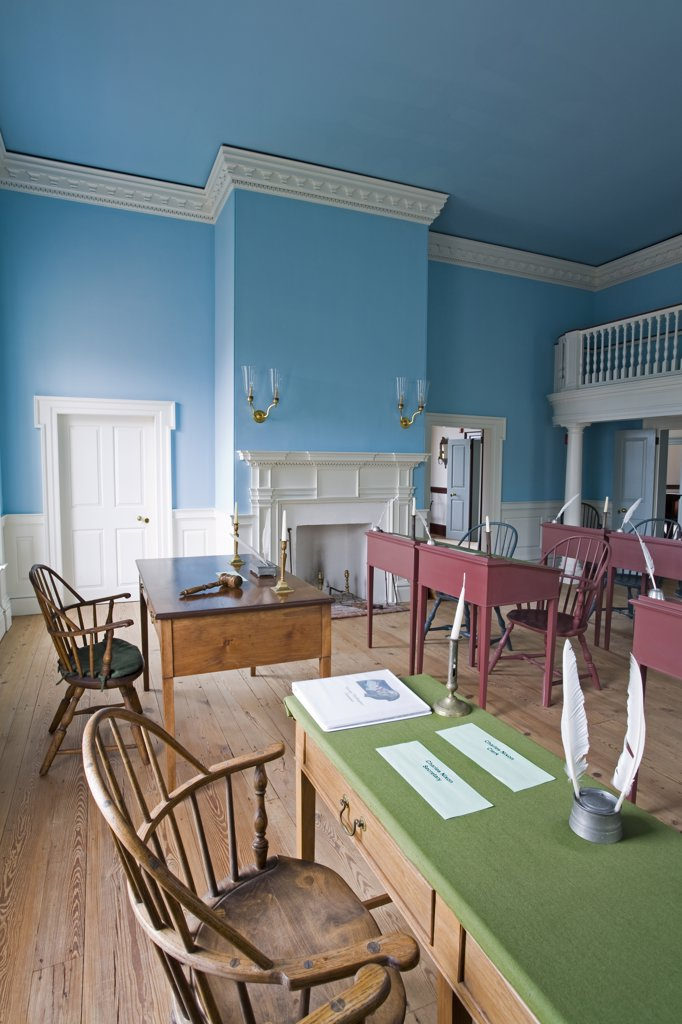 Stock Photo: 1486-12043 Old State House, Dover City, Delaware, USA