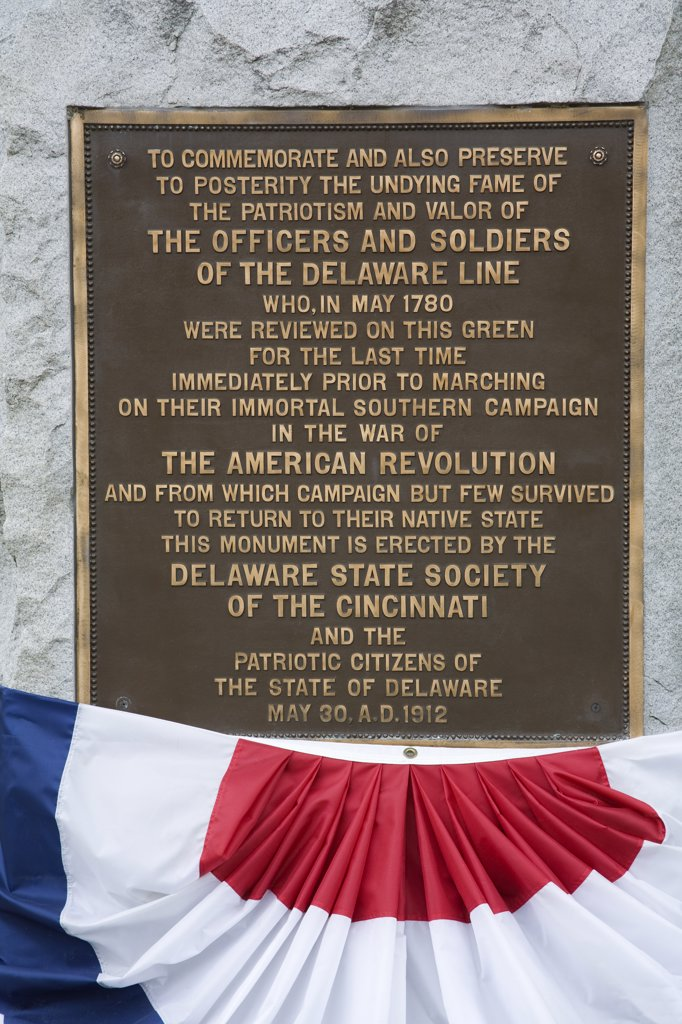 Delaware Soldier's Civil War Monument, Old State House, Dover City, Delaware State, USA : Stock Photo