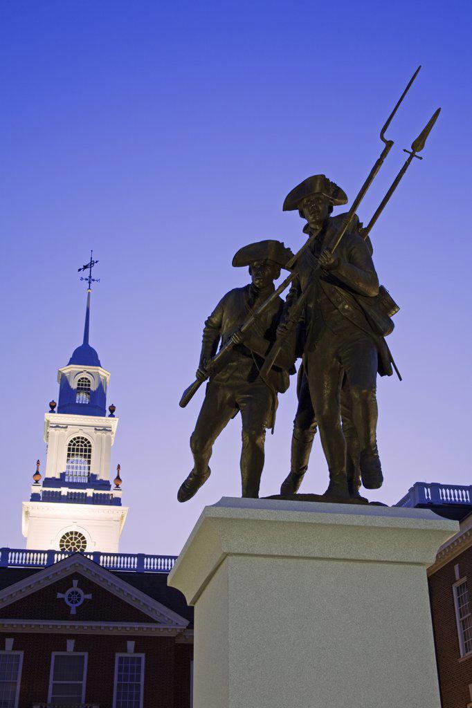 The Delaware Continental Monument by Ron Tunison, Legislative Hall, Dover City, Delaware State, USA : Stock Photo