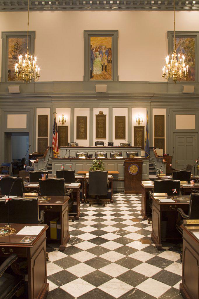 House of Representatives in Legislative Hall, State Capitol, Dover City, Delaware, USA : Stock Photo