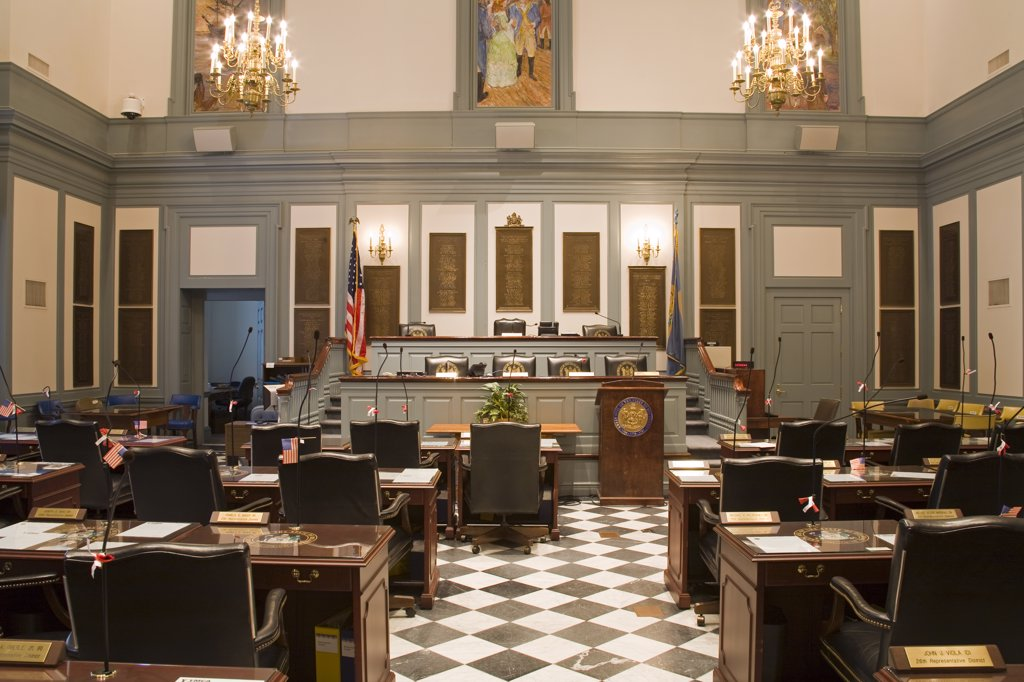 House of Representatives in Legislative Hall, State Capitol, Dover City, Delaware State, USA : Stock Photo