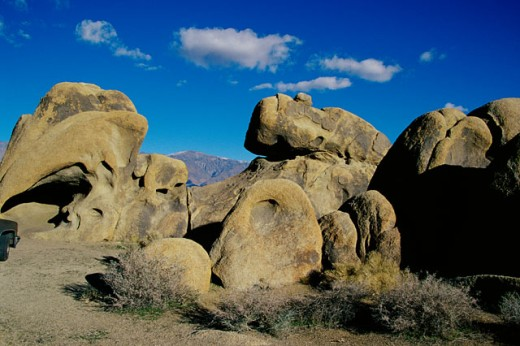 Rock formations at Alabama Hills Recreation Area, California, USA : Stock Photo