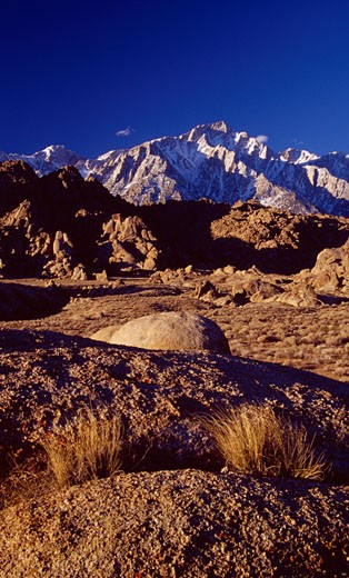 USA, California, Alabama Hills, Mount Whitney : Stock Photo