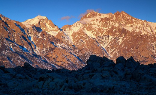 USA, California, Alabama Hills, Eastern Sierra Mountains : Stock Photo