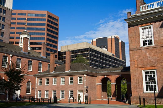 Buildings in a city, Congress Hall, Independence National Historical Park, Old City, Philadelphia, Pennsylvania, USA : Stock Photo