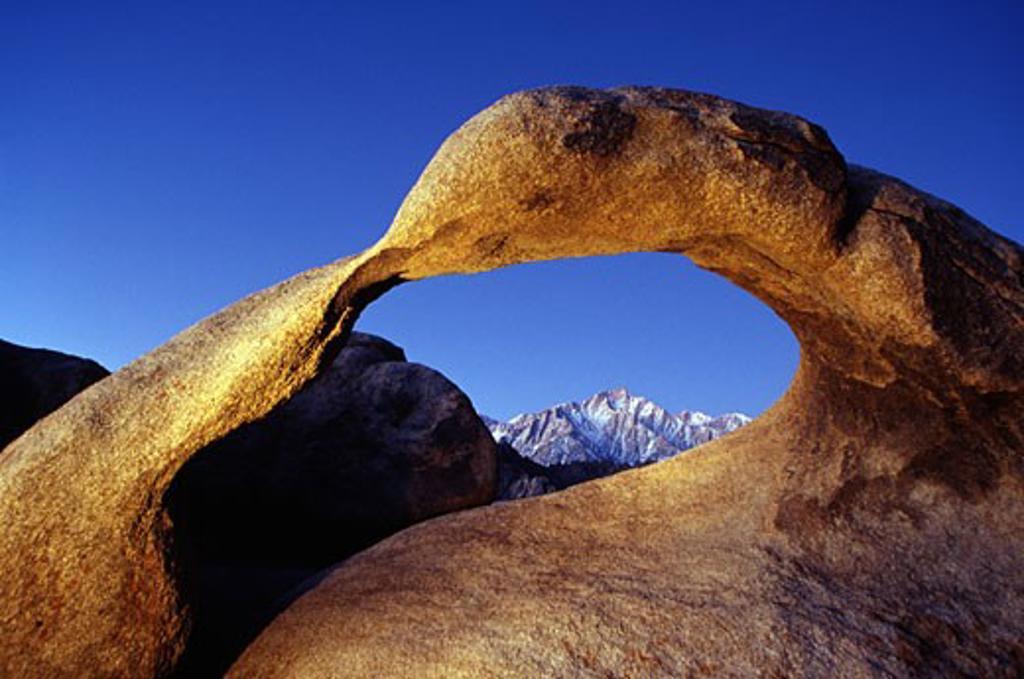 Rock Arch Alabama Hills Recreation Area California USA : Stock Photo
