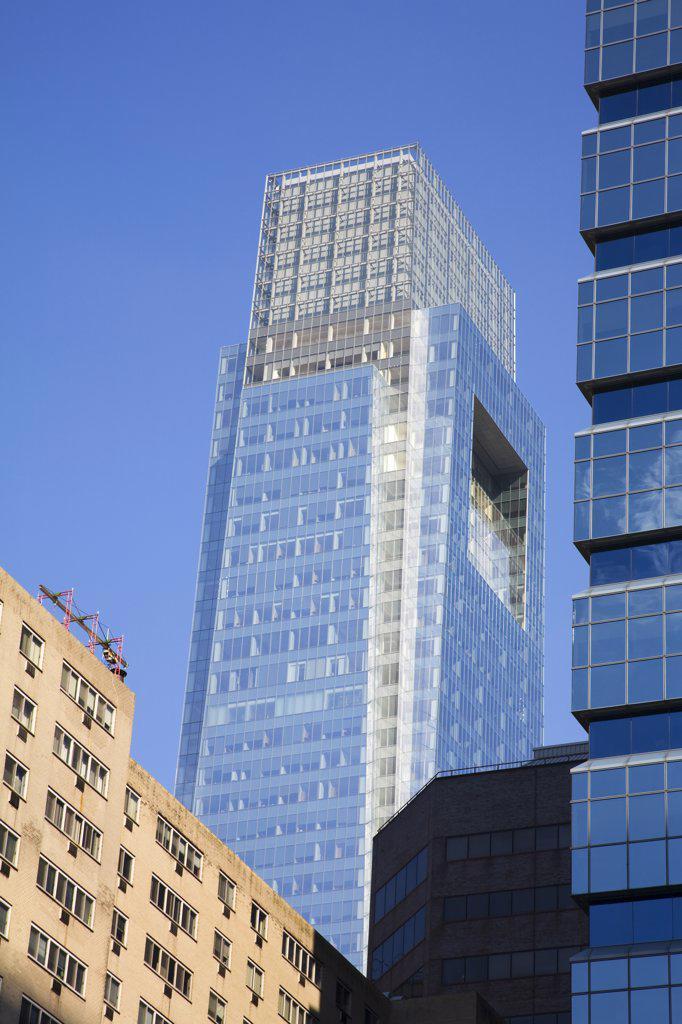 Stock Photo: 1486-12165 Low angle view of commercial buildings, Comcast Tower, Center City, Philadelphia, Pennsylvania, USA