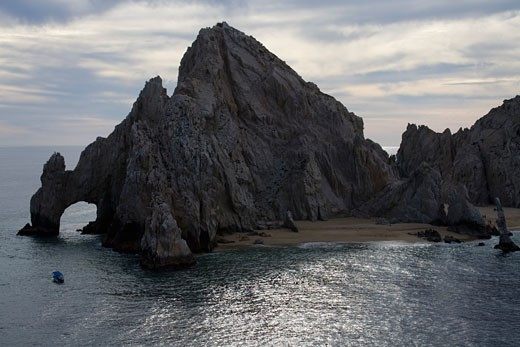 Stock Photo: 1486-12206A Rock formations in the sea, Land's End, Cabo San Lucas, Baja California, Mexico
