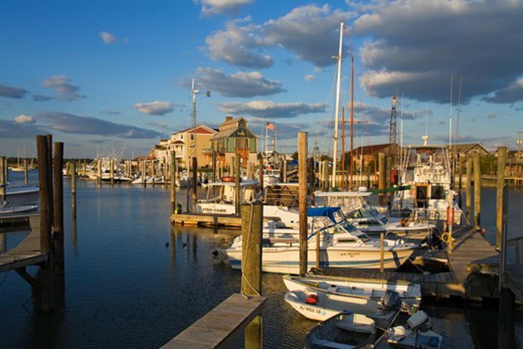 Cape May Harbor, Cape May County, New Jersey, USA : Stock Photo