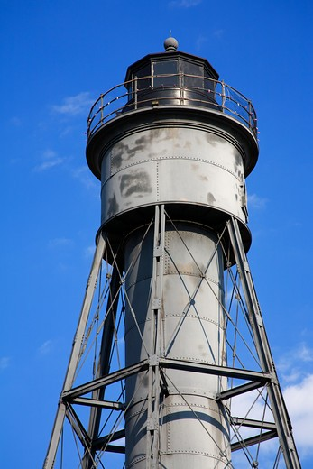 Tinicum Rear Range Lighthouse, Billingsport, Gloucester County, New Jersey, USA : Stock Photo