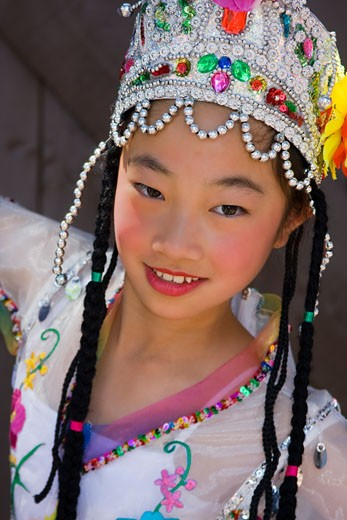 Thai Dancer,Asian Festival,Heritage Square & Science Park,Phoenix,Arizona,USA : Stock Photo